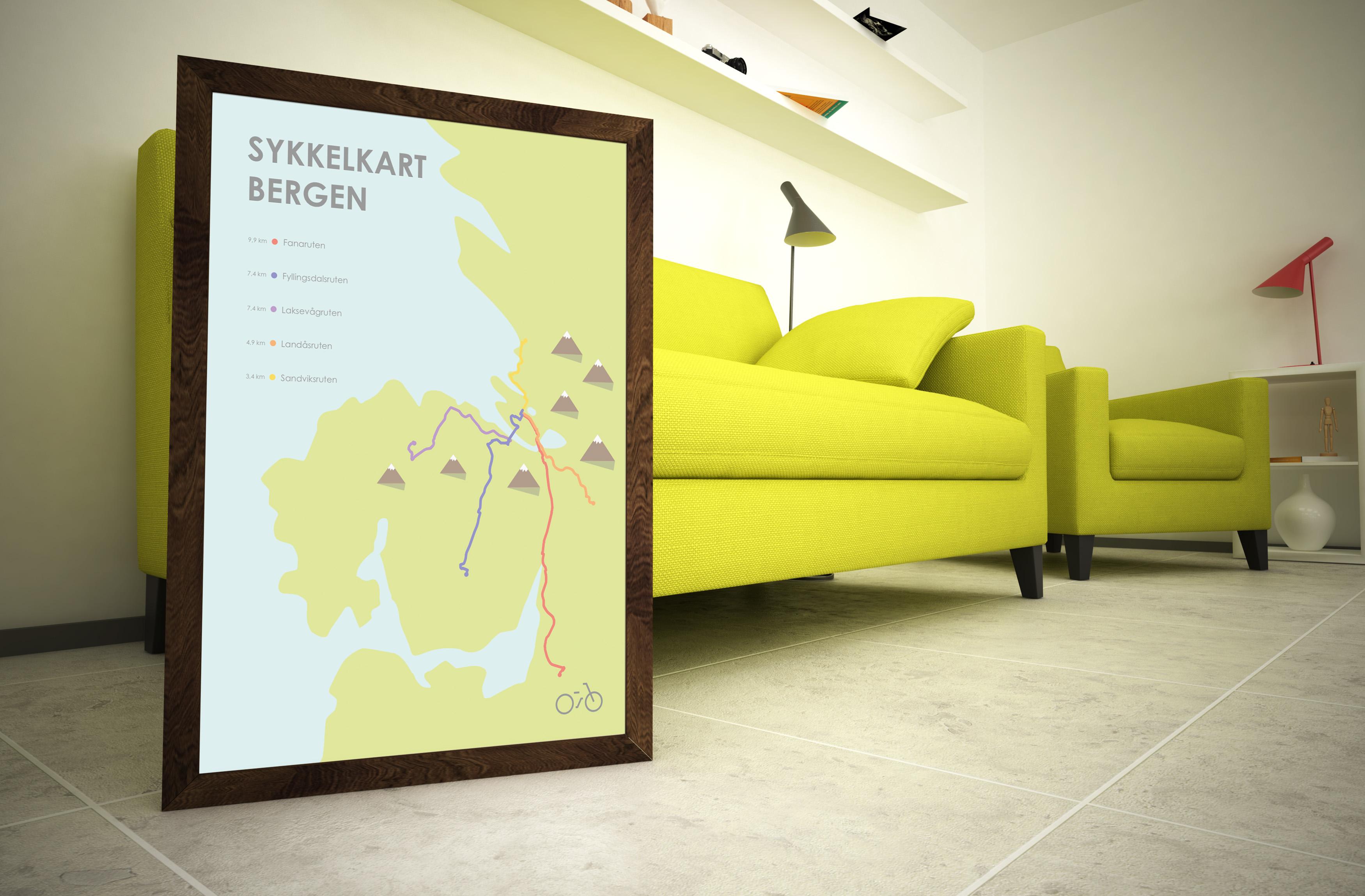 sykkel-kart-plakat